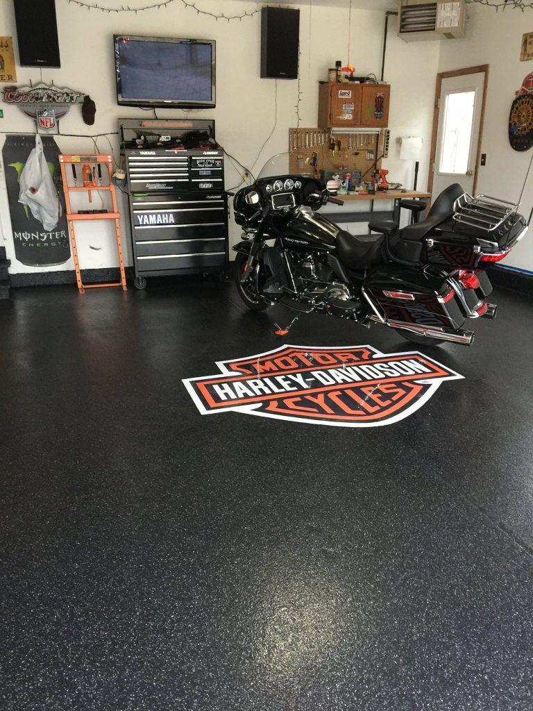 Harley-Davidson Embedded Flooring Logo | St. Mary's Ohio