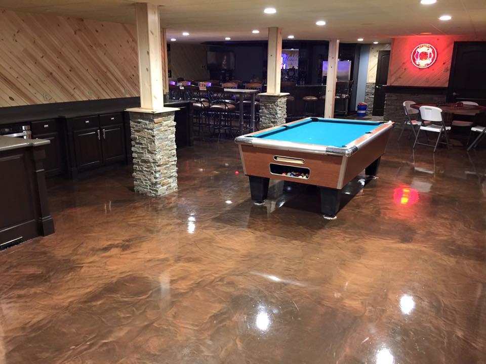 Metallic Marble Epoxy Flooring | Wapakoneta Ohio