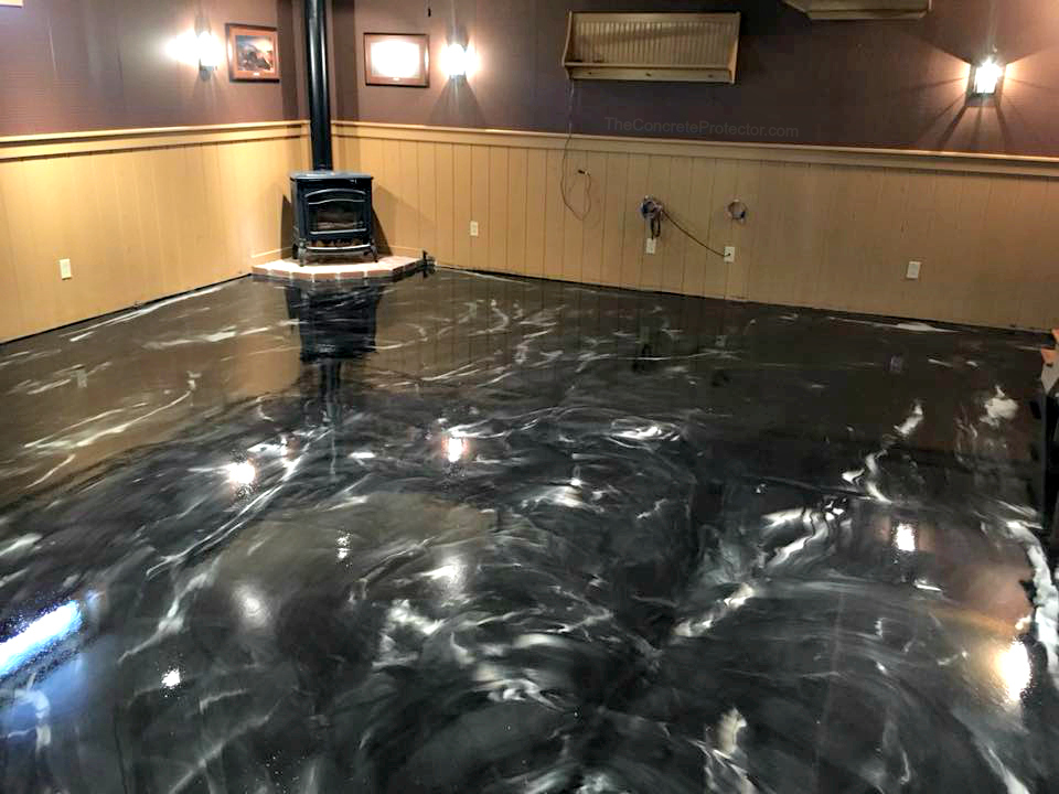Metallic Marble Epoxy Flooring | Celina Ohio