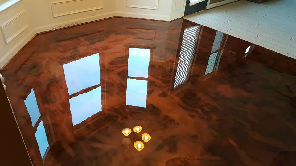 Metallic Marble Epoxy Flooring | Van Wert Ohio