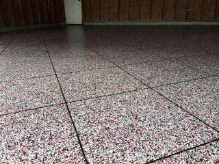 Epoxy Flake Garage Flooring | Wapakoneta Ohio