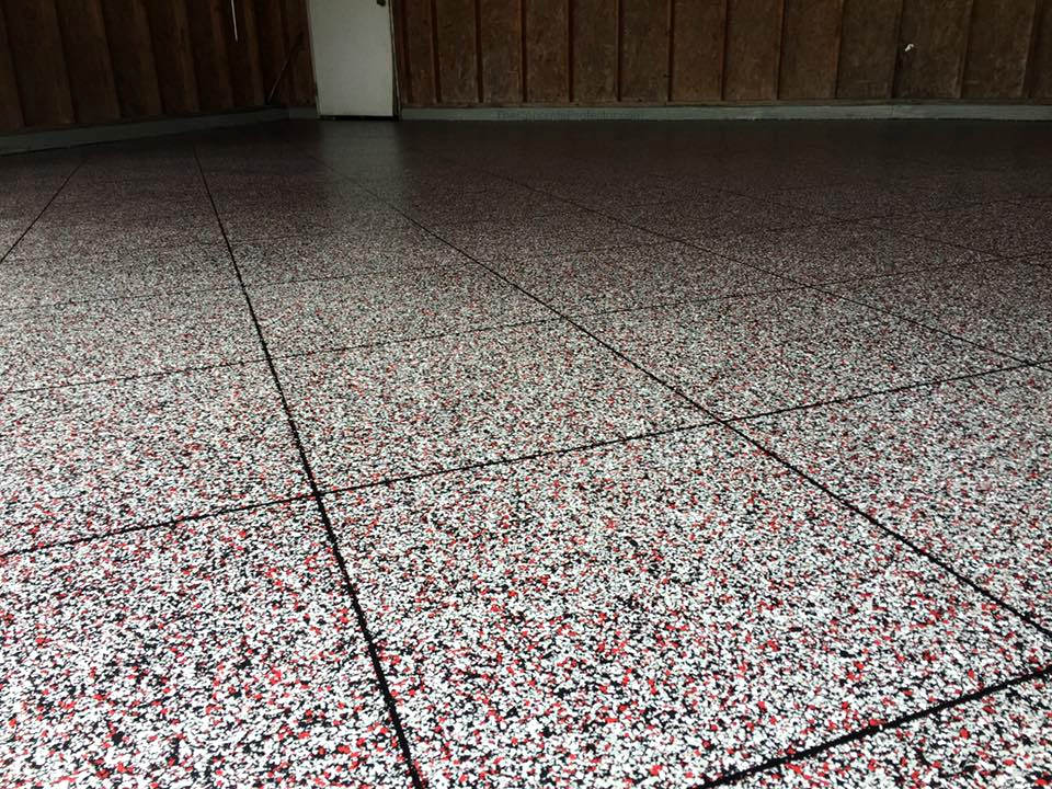 Epoxy Flake Garage Flooring | Wapakoneta Ohio