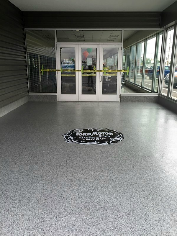 Ford Embedding Flooring Logo | Celina Ohio