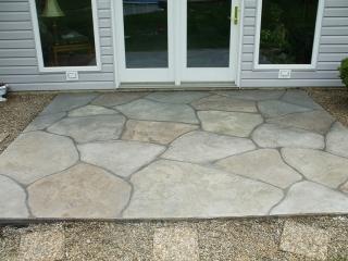 Grand Flagstone Concrete Patio   Celina Ohio
