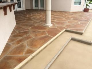 Grand Flagstone Concrete Patio   Van Wert Ohio