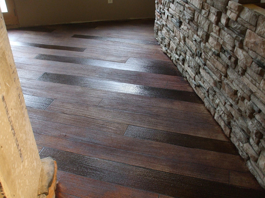 Rustic Wood Concrete Resurfacing | Celina Ohio
