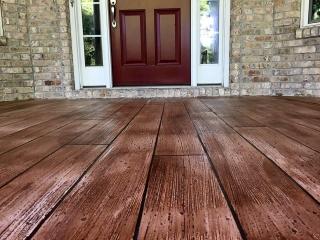 Rustic Wood Concrete Resurfacing | St. Marys Ohio