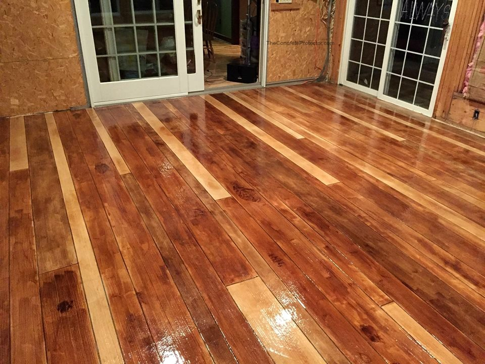Rustic Wood Concrete Resurfacing | Wapakoneta Ohio