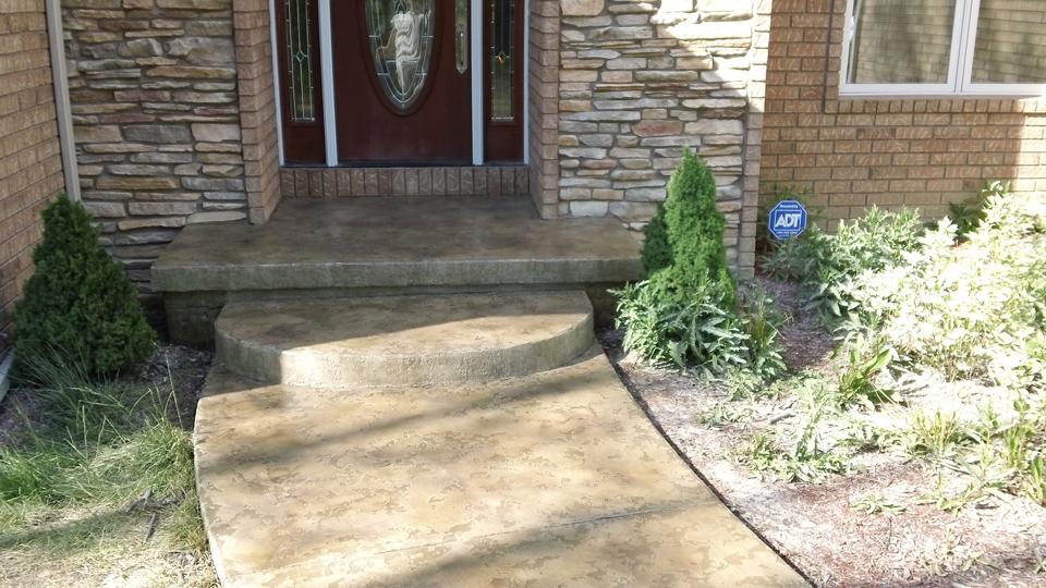 Stained Concrete Porch | Celina Ohio