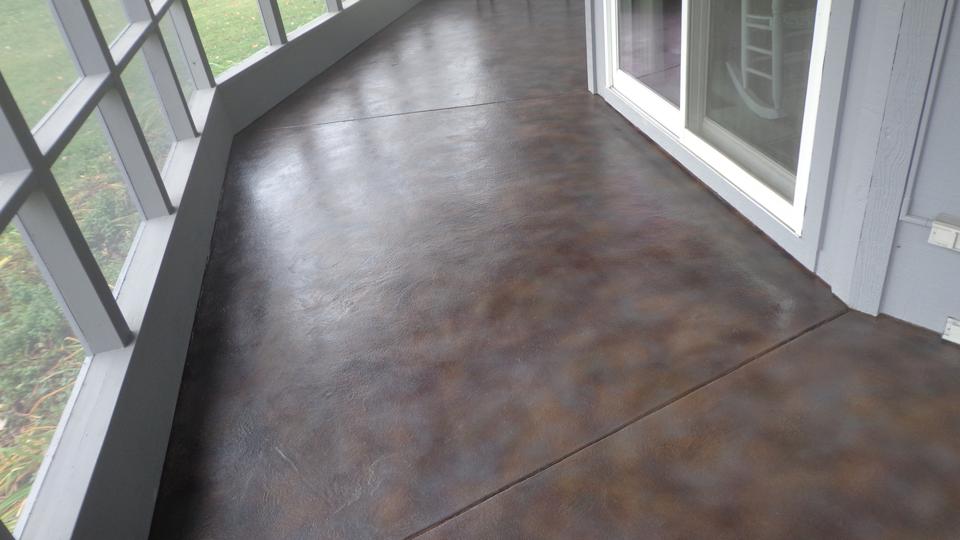 Stained Concrete Sunroom | Wapakoneta Ohio