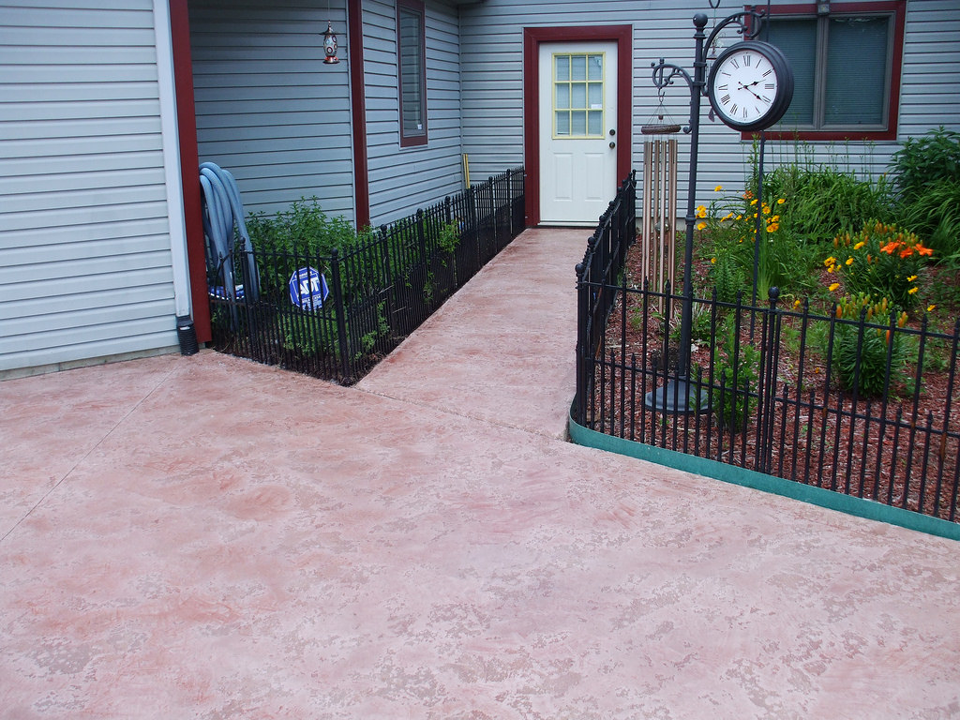 Stained Concrete Patio | Coldwater Ohio