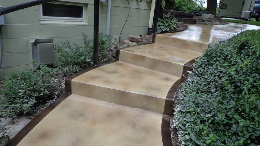 Stained Concrete Sidewalk | Van Wert Ohio